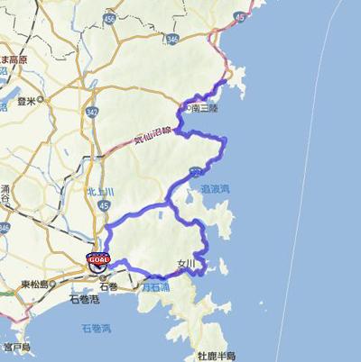 ロングコース地図
