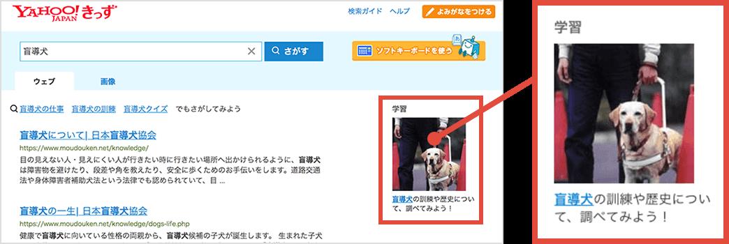 検索結果(キーワードに関連する情報)の説明画像