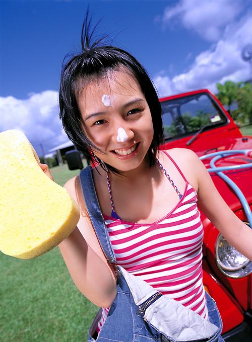桜庭ななみ 洗車