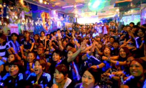 いまから準備だ! サッカー日本代表を応援するんです