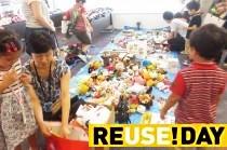 ヤフー社員の家族がリユースを体験!子供服とおもちゃの交換会