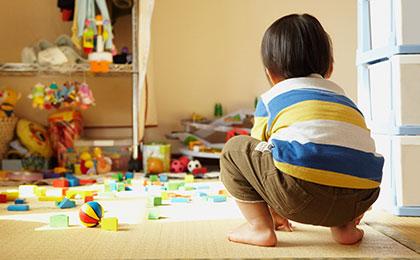 細かいおもちゃを一発片付け!『収納プレイマット』のつくり方