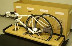 前輪を外すだけ。とにかく簡単に送るならカンガルー自転車輸送便