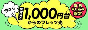 今なら 実質月々 1,000円台 からのフレッツ光