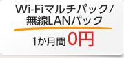 Wi-Fiマルチパック/無線LANパック 1か月間0円