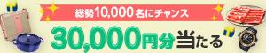 総勢1万人以上にチャンス!最大30,000円の商品券が当たる!