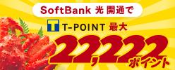 SoftBank 光/SoftBank Air開通でTポイント最大22,222ポイント
