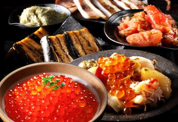 北海道の豪華な海鮮5種・ギフトセット