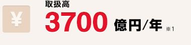 取扱高 3700億円/年 ※1