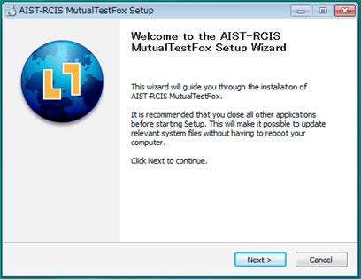 図1: 「MutualTestFox」のインストール画面