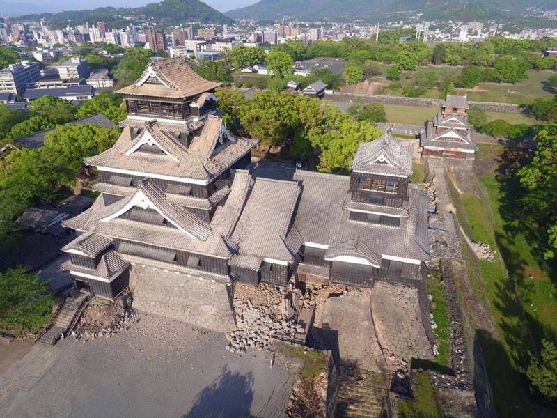 「天下の名城」熊本城が地震で損壊。 修復再建に支援を!!