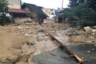 被害をうけた広島市安佐南区