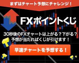 【まずはチャート予想にチャレンジ!】当たれば引ける「FXポイントくじ」