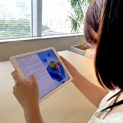 iPadを使ってプログラム体験
