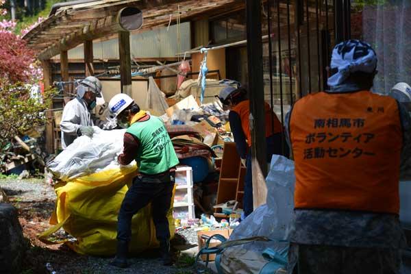 災害復興ボランティアネットが福島県南相馬市で取り組むボランティア活動の様子