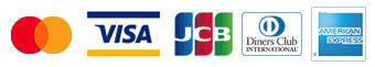 MasterCard、Visa、JCB、Diners Club、American Express、Yahoo! JAPAN、UC、SAISON CARD、TS3