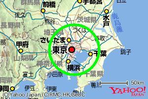 円を追加した地図