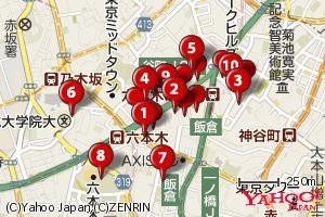 YDFをマーカーで表示した地図