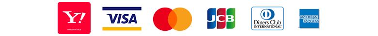 Yahoo!カード、VISA、MasterCard、JCB、Diners、American Express