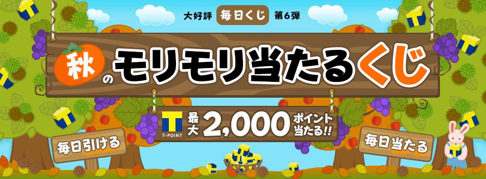 【無料】1日1回、運だめし★くじを引いて最大2,000ポイントが毎日当たる!