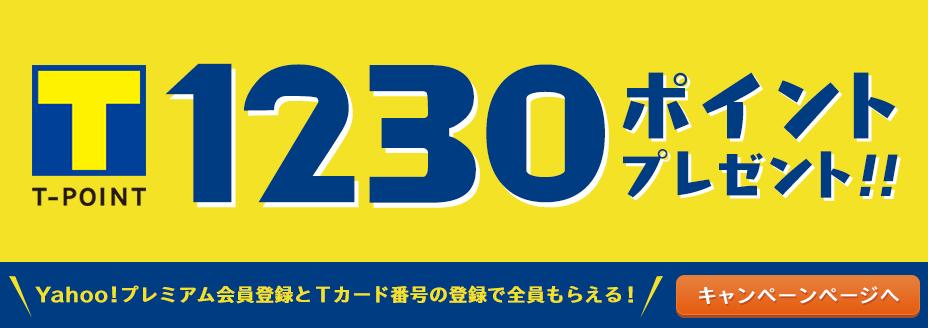 Yahoo!プレミアム会員登録とTポイントの利用手続きで1230ポイントが必ずもらえる!