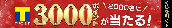 くじで2,000名にTポイント3,000ポイントが当たる!