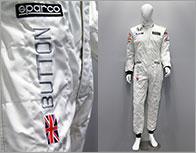 F1ドライバー レプリカレーシングスーツ(J.バトン直筆サイン入り)