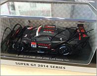 SUPER GT GT500 2014 テスト車両モデル(NISSAN GT-R NISMO) 松田次生・柳田真考サイン入り