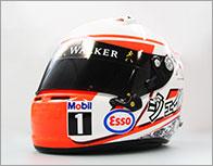 F1ドライバーレプリカヘルメット(J.バトン直筆サイン入り)