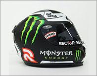 Movistar Yamaha MotoGP ホルヘ・ロレンソ選手直筆サイン入りレプリカヘルメット(RPHA 10 PLUS ロレンソ レプリカ �)