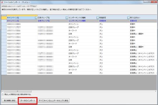 CSV(TSV)ファイルのデータをインポートする3_2