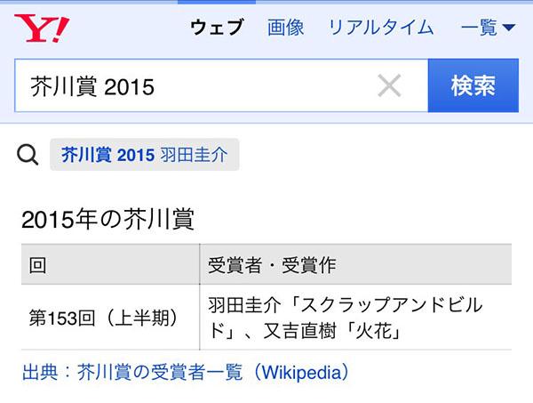 「芥川賞 2015」の検索結果