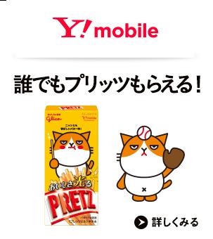 Y!mobile 誰でもプリッツもらえる!詳しくみる