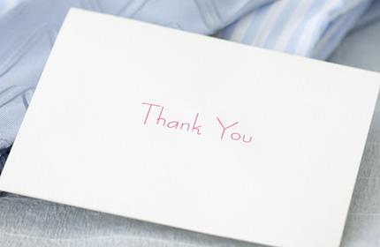 直筆のメッセージ・手紙
