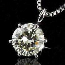 0.6ct~0.7ct 一粒 天然 大粒 プラチナ ダイヤモンド ネックレス