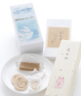道祖神、真味糖、白鳥の湖