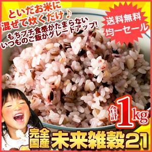 完全国産未来雑穀21+マンナン1kg