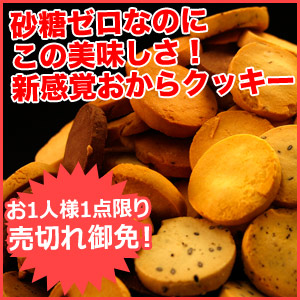 砂糖不使用!豆乳おからクッキー1キロ