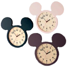 ミッキーモチーフのデザインがかわいい掛け時計