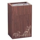 ウッド調素材で見た目も可愛い♪バンビのごみ箱