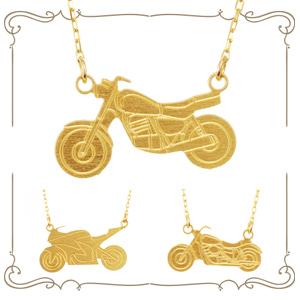 バイクモチーフネックレス