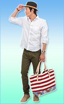 素材にこだわった7分袖シャツとデニムを着れば、大人のリラックススタイルに!<br><br>