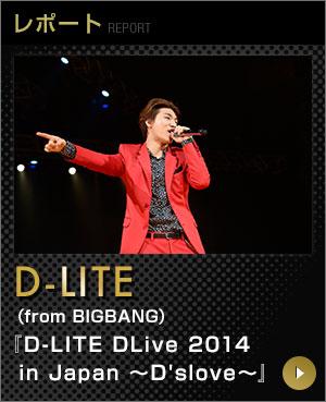 レポート D-LITE(from BIGBANG)『D-LITE DLive 2014 in Japan ~D'slove~』