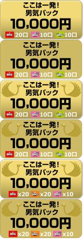 ここは1発!男気パック 10000円