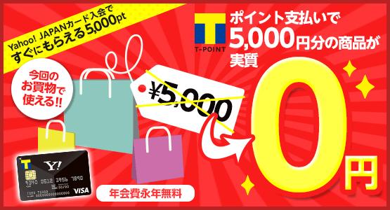 ポイント支払いで5000円分の商品が実質0円