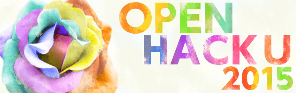 Open Hack U 2015のキービジュアル画像
