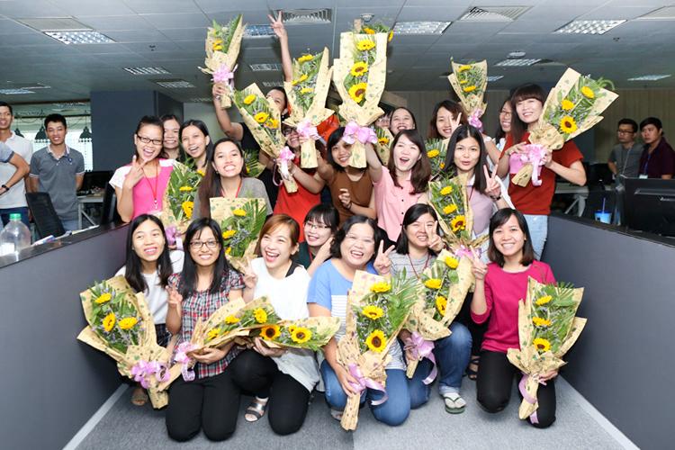 Hoạt động kỉ niệm ngày phụ nữ Việt Nam 20/10 tại Techbase Việt Nam